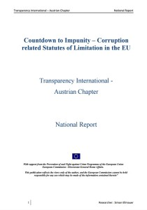 Countdown to Impunity - Corruption related Statutes of Limitation in the EU