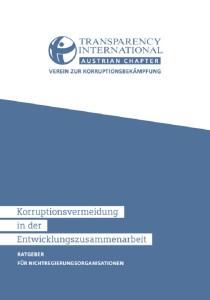 Korruptionsvermeidung in der Entwicklungszusammenarbeit