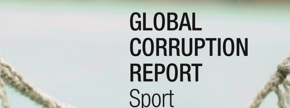 Transparency International veröffentlicht Global Corruption Report zum Thema Sport